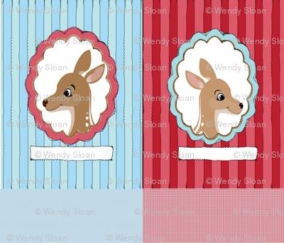 Reindeer Cut and Sew Pillows