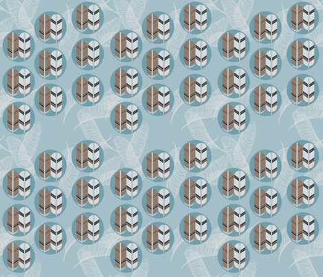 Eagle feathers marching, pen feathers dancing by Su_G fabric by su_g on Spoonflower - custom fabric