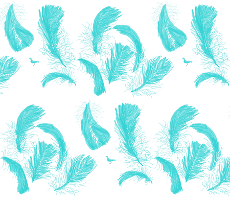 Too big for your feathers fabric by cupani on Spoonflower - custom fabric
