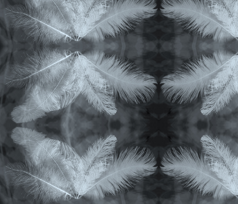 feather ghost fabric by pernille_voss on Spoonflower - custom fabric