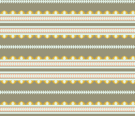 aztec stripes - gray, yellow & pink fabric by ravynka on Spoonflower - custom fabric