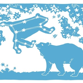 Ursa Major Tea Towel (peacock blue)