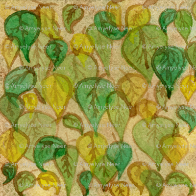 Leaves at the Cafe
