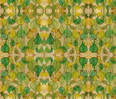 Leaves at the Cafe fabric by amyelyse on Spoonflower - custom fabric