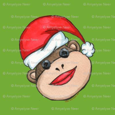 Santa Sock Monkey