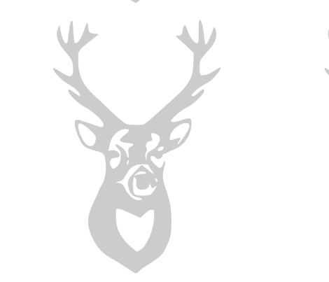 large_gray_deer fabric by efolsen on Spoonflower - custom fabric