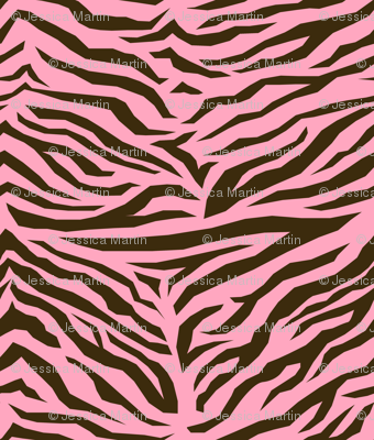 Safari Baby - Pink and Chocolate Zebra Stripe