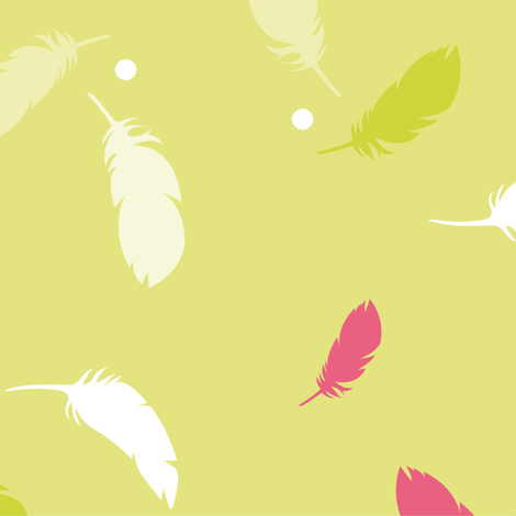 spring feathers fabric by happy_to_see on Spoonflower - custom fabric