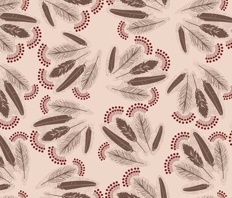 Feather_bunches fabric by natasha_k_ on Spoonflower - custom fabric