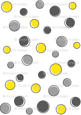 Grey & Yellow Dots