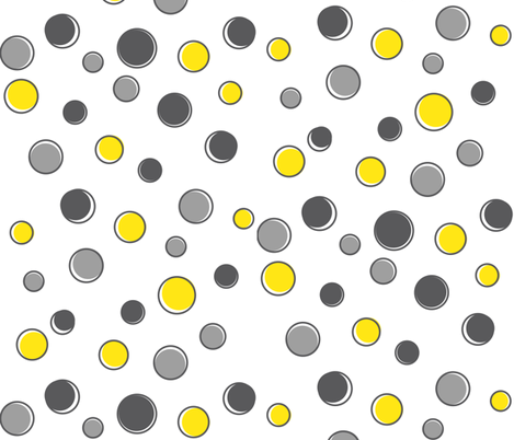 Grey & Yellow Dots fabric by jacaranda on Spoonflower - custom fabric