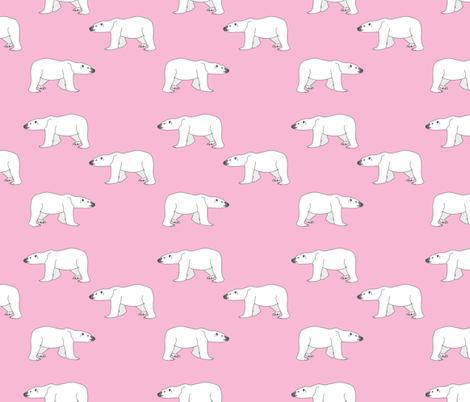 Polar Bears on Pink fabric by carinaenvoldsenharris on Spoonflower - custom fabric