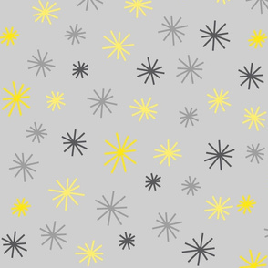 Grey & Yellow Stars