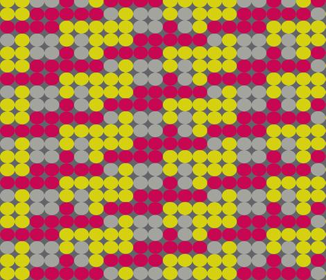 Dot Dot in Greys, Citrine, and Raspberry fabric by bluenini on Spoonflower - custom fabric