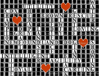 Newfoundland dog crossword Puzzle