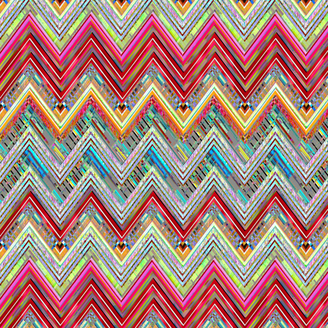 Sizzle Zig Zag fabric by joanmclemore on Spoonflower - custom fabric