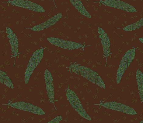birds of a feather (copper) fabric by weavingmajor on Spoonflower - custom fabric