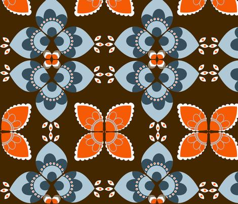MOD Feather Mirror Flowers fabric by natitys on Spoonflower - custom fabric