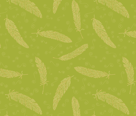 birds of a feather (olive) fabric by weavingmajor on Spoonflower - custom fabric