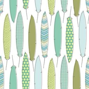 aqua feathers