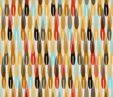 modern feathers  fabric by babysisterrae on Spoonflower - custom fabric