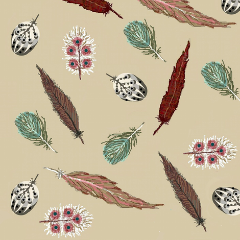 fancy feathers fabric by paragonstudios on Spoonflower - custom fabric