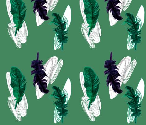 Feather_twist fabric by gigimoll on Spoonflower - custom fabric