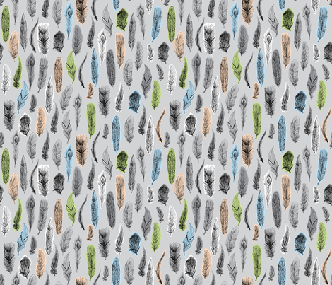 Plume au naturel fabric by made_in_shina on Spoonflower - custom fabric