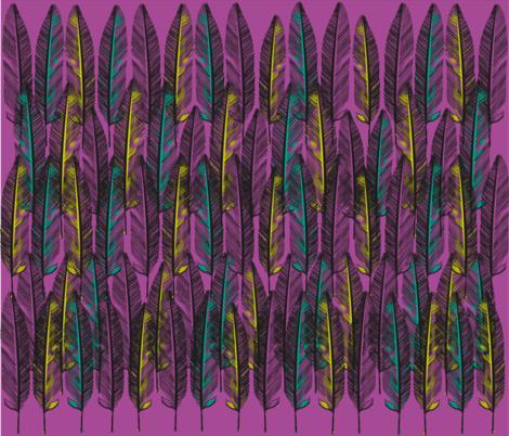 pinkfeathers_F3 fabric by nioukniouk on Spoonflower - custom fabric