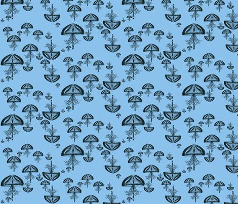 Jellyfish Danger (Deed Sea) fabric by kitschkat on Spoonflower - custom fabric