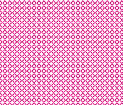 Cathedral Window Feathers - Pink fabric by grapedots on Spoonflower - custom fabric