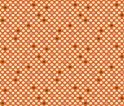 MOD Dots Orange fabric by natitys on Spoonflower - custom fabric