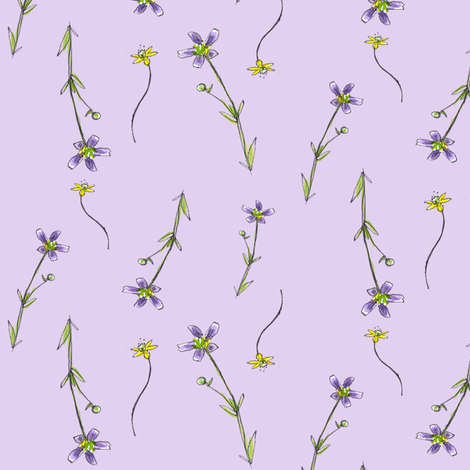 Lavender Little Wildflowers fabric by countrygarden on Spoonflower - custom fabric