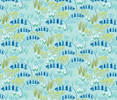 Bluebell Field fabric by needlebook on Spoonflower - custom fabric
