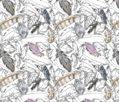 feather_collection_ fabric by jeannemcgee on Spoonflower - custom fabric
