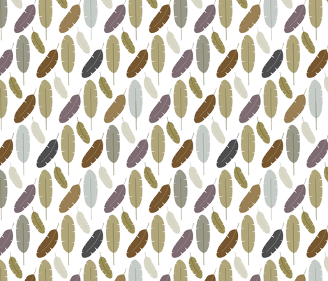 Feather Frenzy fabric by audzipan on Spoonflower - custom fabric