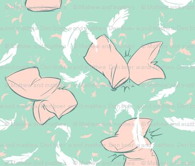 Pillow fight! (pink pillows)