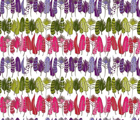 Fancy Feathers fabric by dynasty_b on Spoonflower - custom fabric