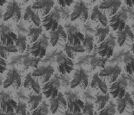 ostrich feather fabric by minimiel on Spoonflower - custom fabric