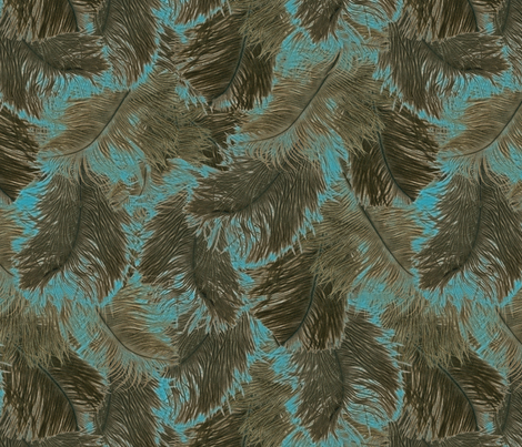 ostrich feather brown fabric by minimiel on Spoonflower - custom fabric