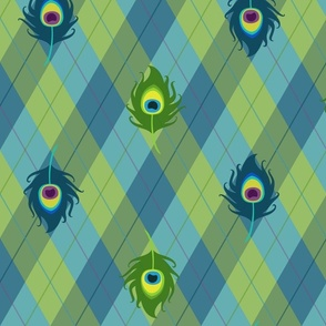 Peacock Argyle (Green)