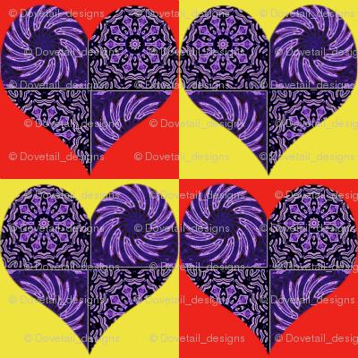 Checkerboard Hearts