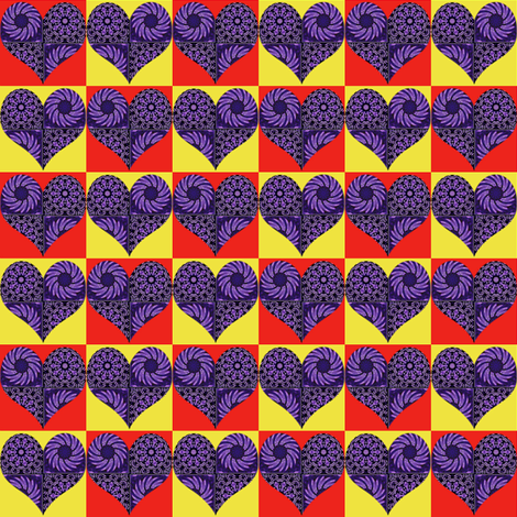 Checkerboard Hearts fabric by dovetail_designs on Spoonflower - custom fabric
