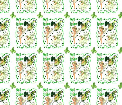 Fairy Paper Doll, Spring Fairy, Garden Fairy fabric by mariannemathiasen on Spoonflower - custom fabric