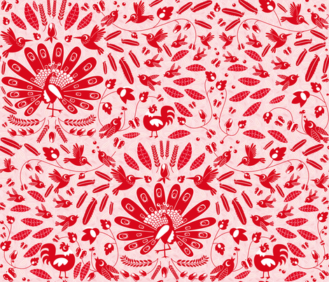 feathers everywhere fabric by miss_honeybird on Spoonflower - custom fabric