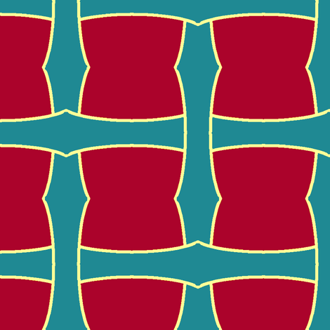 Blue on Red Weave fabric by pond_ripple on Spoonflower - custom fabric