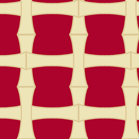Bamboo Weave Red fabric by pond_ripple on Spoonflower - custom fabric