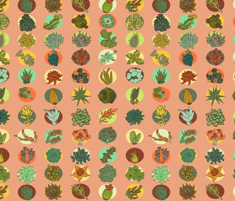 Succulents fabric by sarahrobbins on Spoonflower - custom fabric