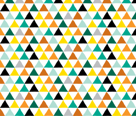 Pyramid Scheme in Mustard fabric by red_velvet on Spoonflower - custom fabric