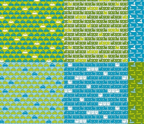 Boy Racer fat quarter_28inX18in fabric by zoebrench on Spoonflower - custom fabric